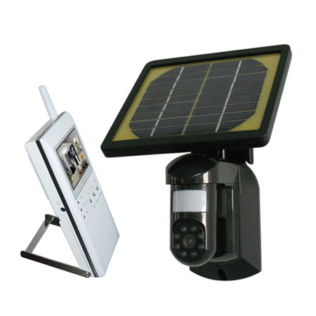 Solar Wireless Camera with LCD Display