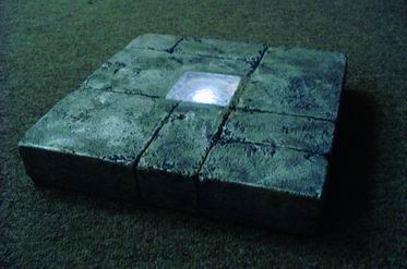 "Solar ""Antique Brick"" Stepping Stone Garden Light"