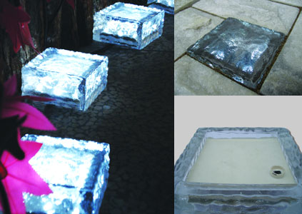 LED Solar Ice Brick Light