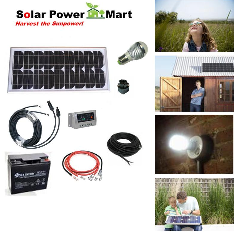 Sc origin do it yourself solar power 20w diy lighting kit 2013 our 20 watt solar power solutioingenieria Image collections
