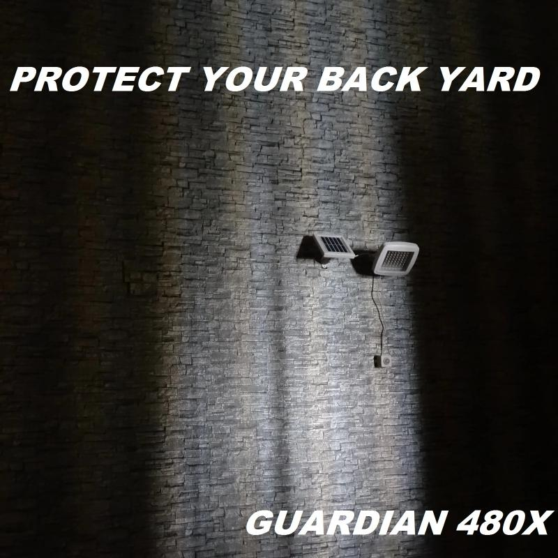 Guardian 480X Solar Flood Light Protect Your Backyard