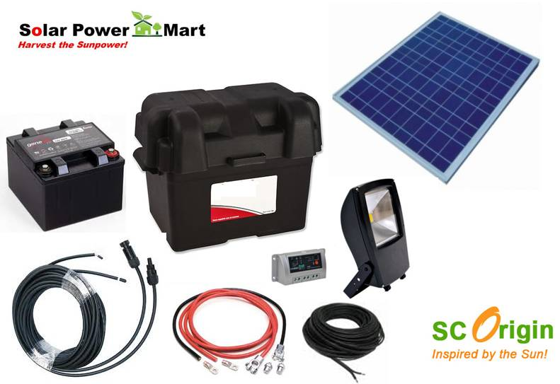 DIY Solar Power Floodlight Kit