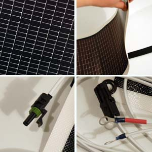 Flexible solar panel and accessary