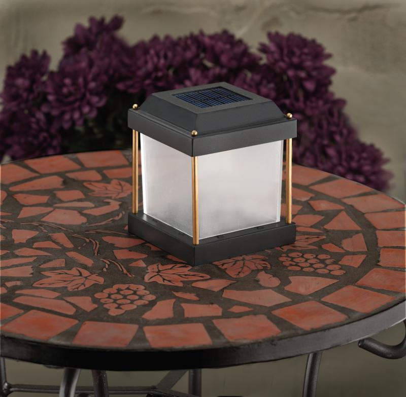Prefect solar light in outdoor dining