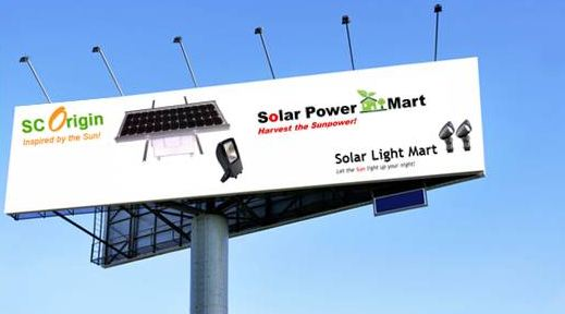 Solar Omega Floodlight Billboard