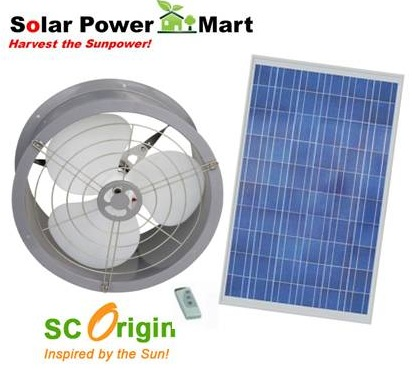 Solar Omnicron Ventilation Fan