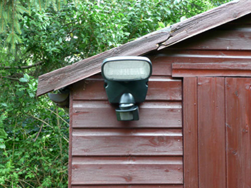 Solar Security Spotlight with Motion Sensor