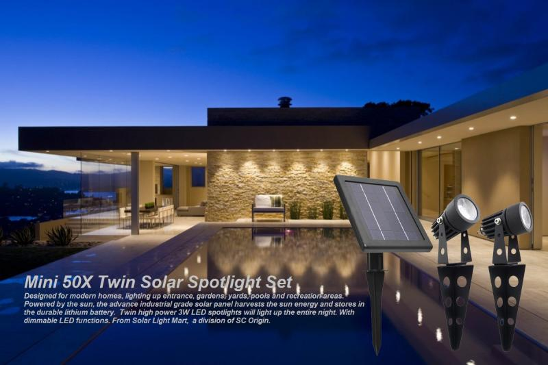 Mini 50X Solar Twin Solar Spotlights